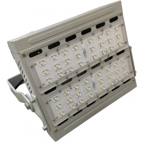 Proyector túnel LED 80W 5500K, fuente Meanwell dimable 0-10V, IP66 Eficiencia 120lm/W