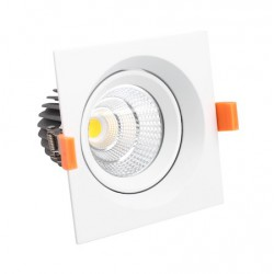 Downlight LED EVILED 7W CUADRADRO Luz Fría